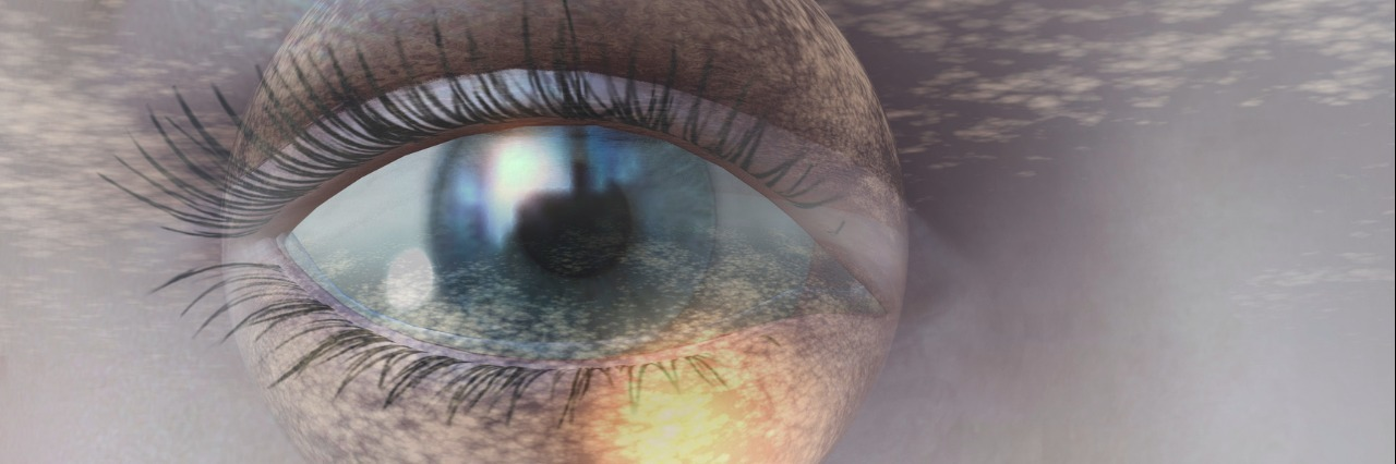 digital rendering of an eye