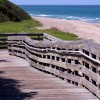 Beach front boardwalk ramp, South Florida.