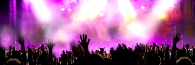 Live music background. Show and public