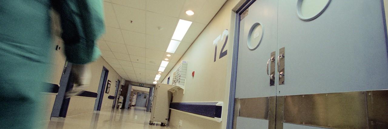 hallway in a hospital