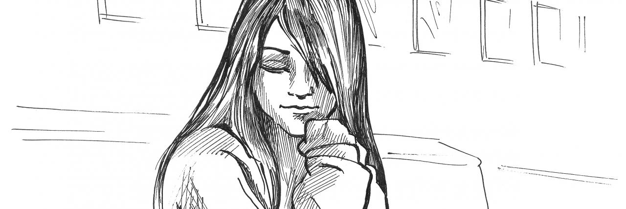 sad girl on the street