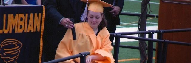 Beth at her high school graduation.