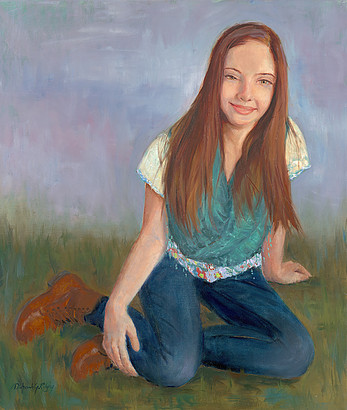 Portrait of Abby, painted by Deborah Ridgley.