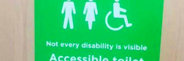 Asda Disabled Bathroom Sign Welcomes Those With Invisible