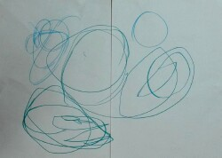 circles drawn by young boy with down syndrome