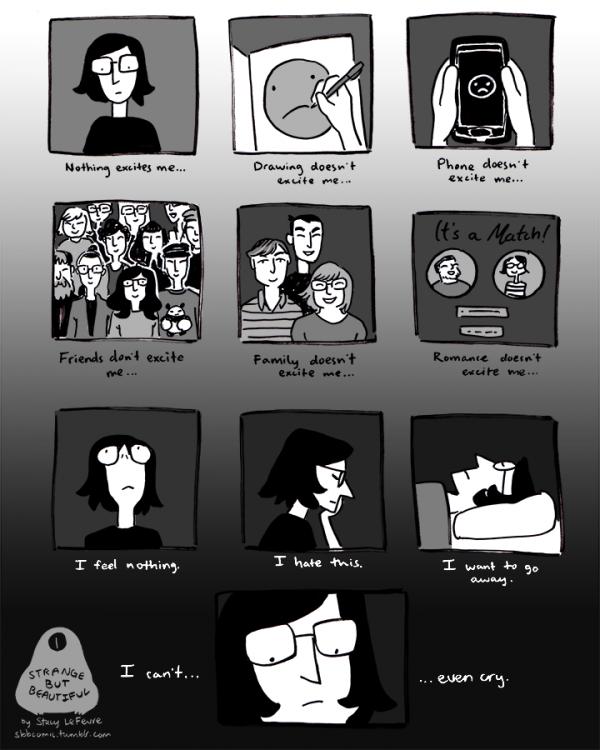 """I Feel Nothing"" comic"