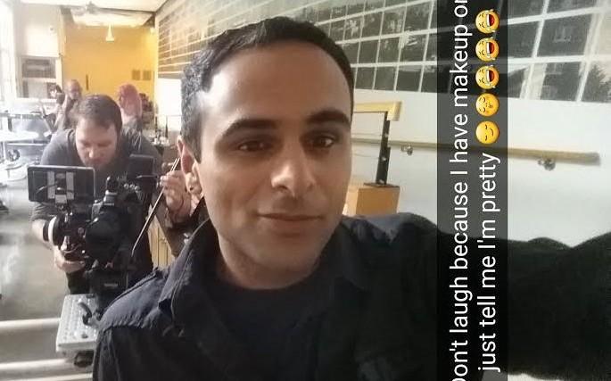 snapchat of saleem juma at video shoot