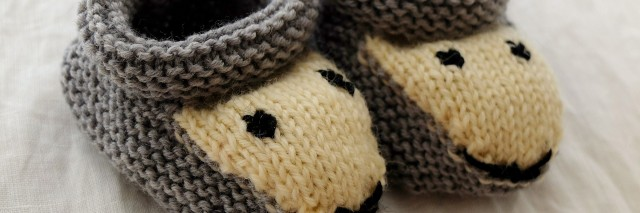 pair of knitted slippers