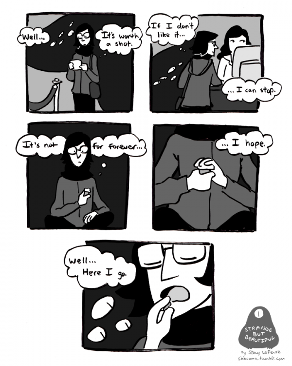 comic about starting antidepressants