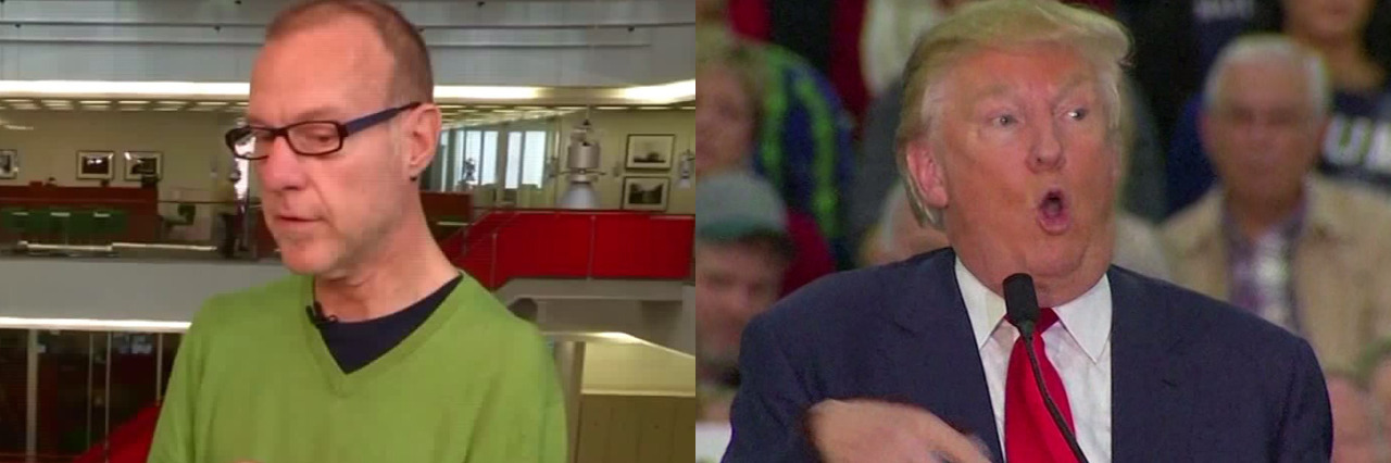 Donald Trump mocks a reporter with a disability.