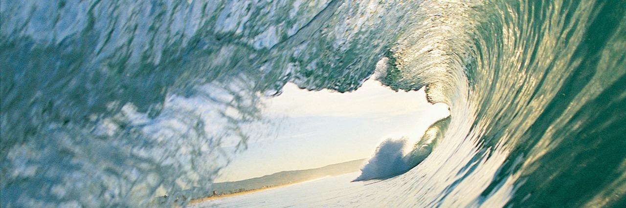 looking through breaking wave