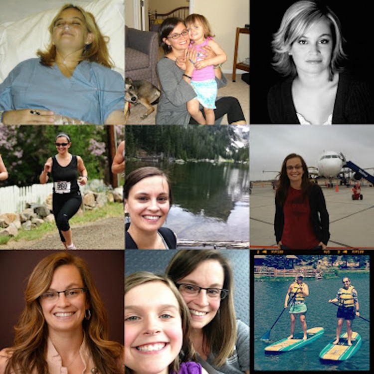 collage of pictures of the author