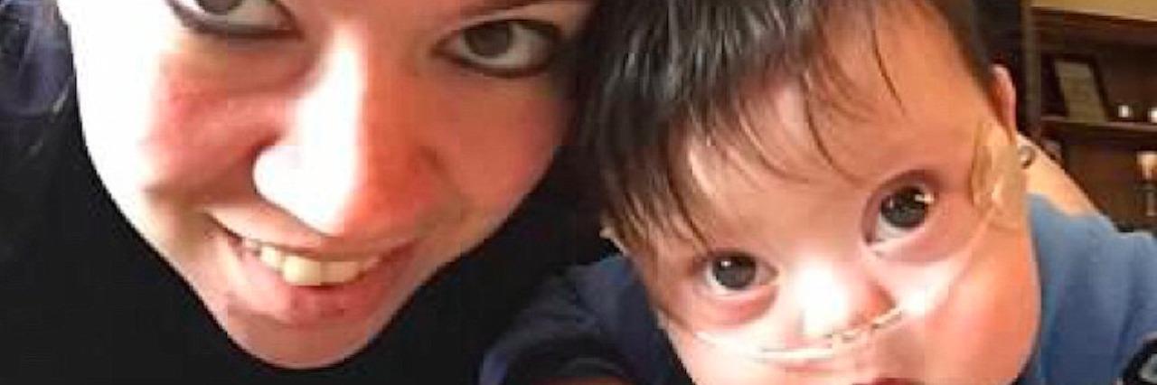 Amanda Dickinson and her son, Kaleb