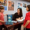 Melanie at her book signing