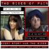 two side by side photos of woman with pain