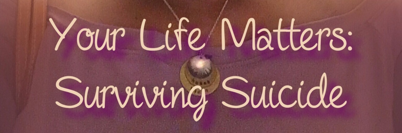 a picture of a womans face with the words your life matters surviving suicide written at the bottom