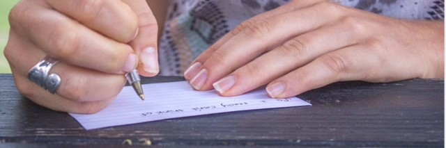 mom writing note