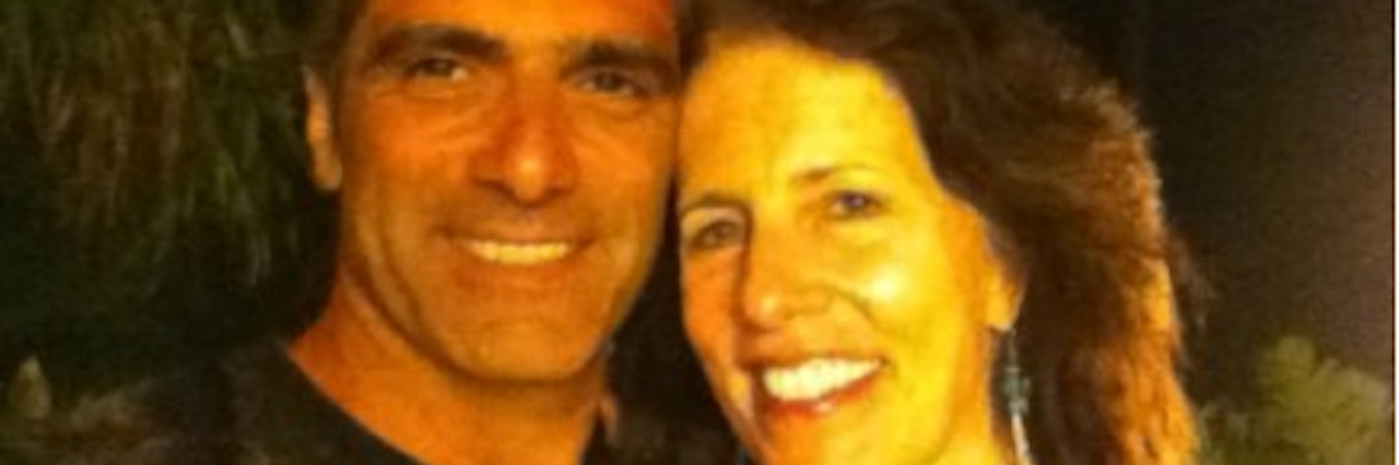 Couple smiling for camera