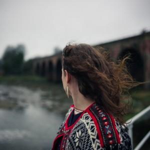woman on a bridge