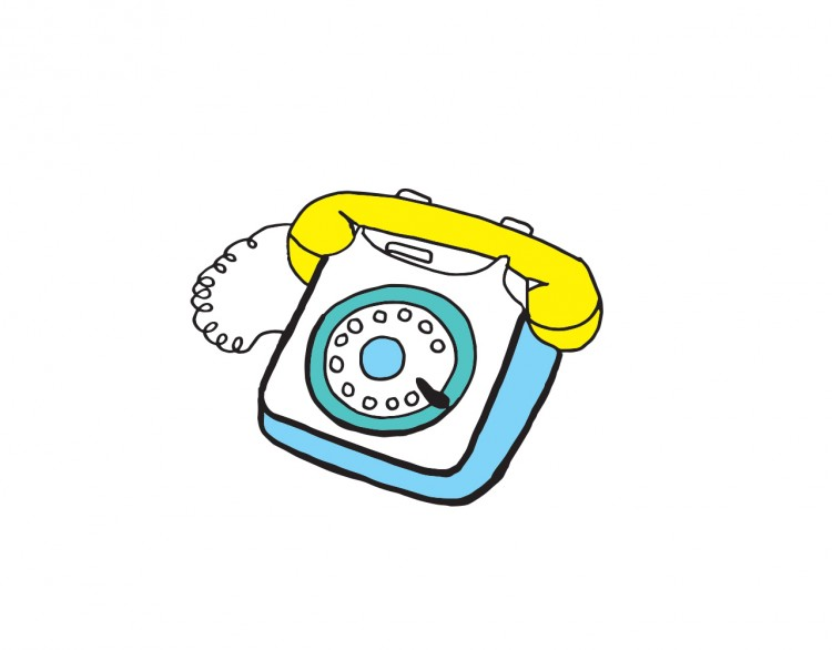 Illustration of a rotary phone
