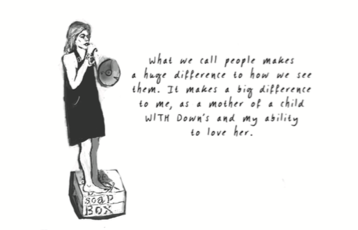 "Illustration that says ""what we call people makes a huge difference in how we see them."""