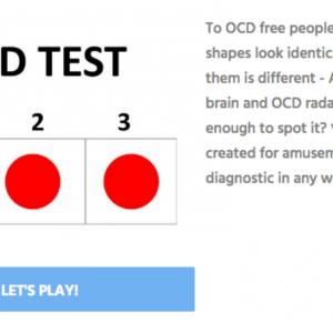 screen grab of how sensitive is your ocd radar quiz result