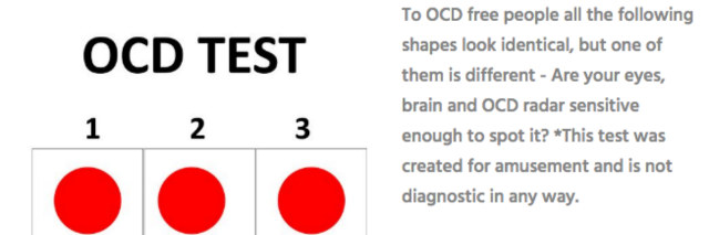 ocd test why you shouldn t take the radar test the mighty. Black Bedroom Furniture Sets. Home Design Ideas