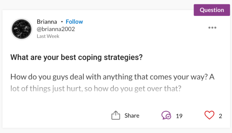 person asking for coping strategies with autism