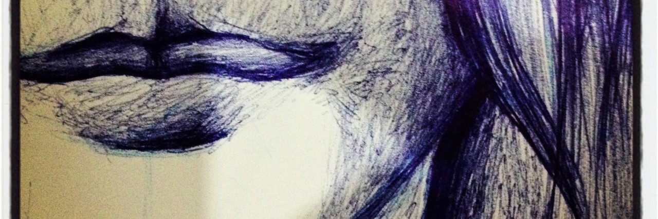 Abstract ArtDrawing of A Woman Face