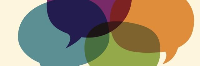 Illustration of dialogue bubbles
