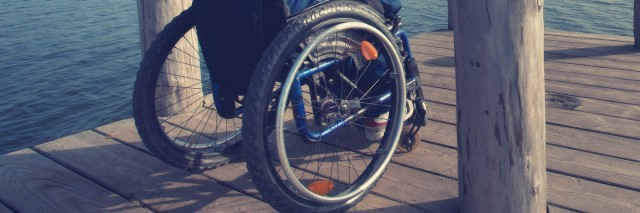 Wheelchair close-up.