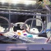 a newborn in an incubator in the nicu unit