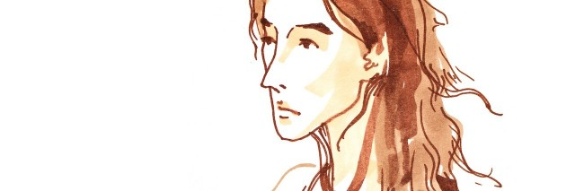 sketch of a sad woman