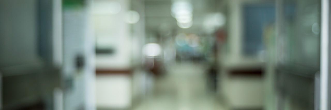 blur of inpatient corridor