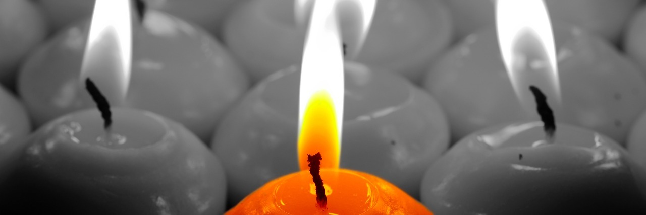 candles being lit