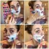 Tina-Marie Beznec shaving her face.
