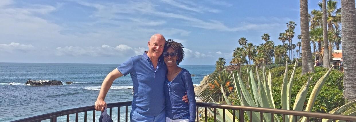 woman and her boyfriend in laguna beach