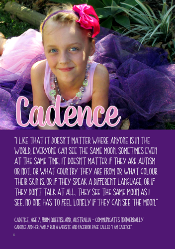 Cadence's page of the book.