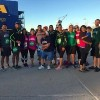 group of 5k runners in front of ikea store