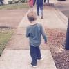 Finley walking.