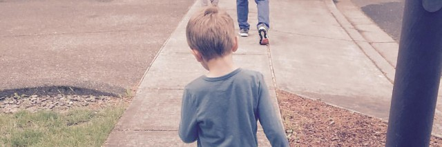 Finley walking.