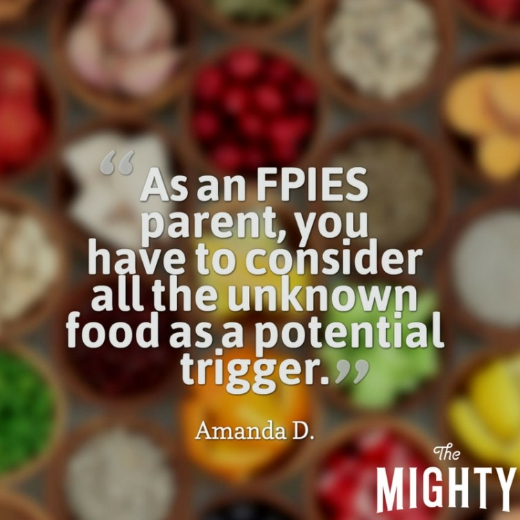 As an FPIES parent, you have to consider all the unknown food as a potential trigger.
