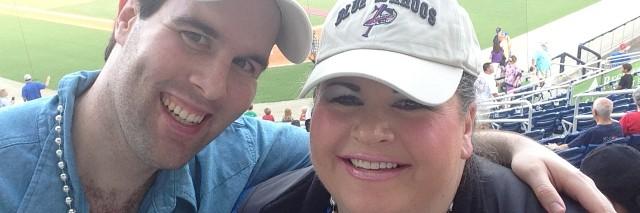 Anita and Abraham at the baseball game