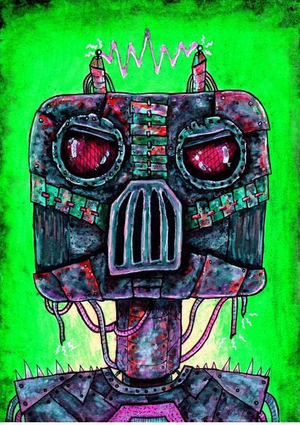 An illustration of a robot