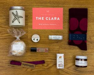 "Inside ""The Clara"" box"