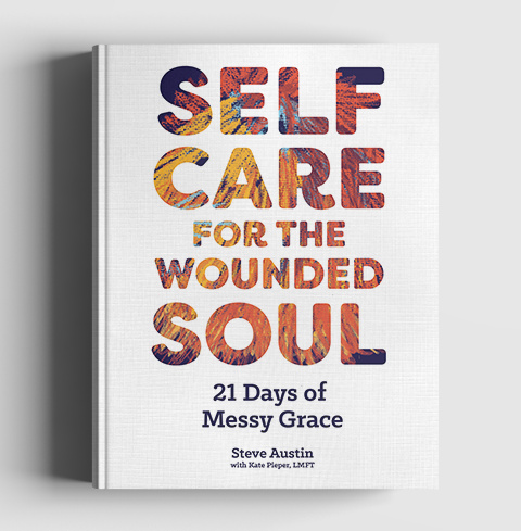 Book cover for Self Care for the Wounded Soul 21 Days of Messy Grace
