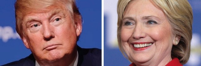 Photo of Donald Trump and Hillary Clinton