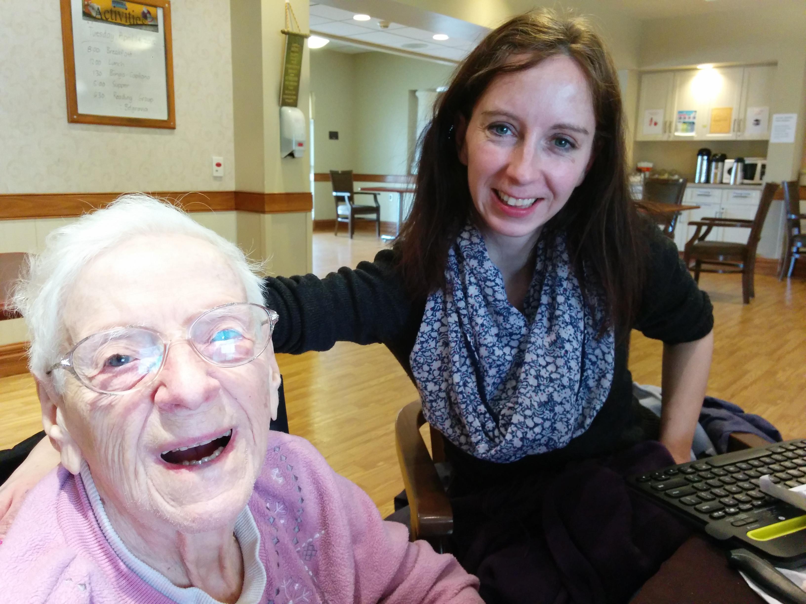 grandma and grand daughter