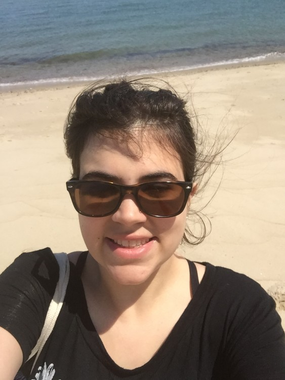 Ilana's selfie on the beach