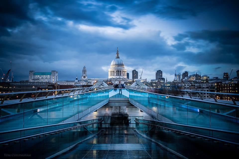 Millenium Bridge and St Paul by Tom